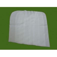 เศษผ้าสีขาวขนาดฝ่ามือ