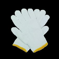ถุงมือผ้าฝ้าย (700 grams) ขอบสีเหลือง